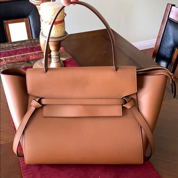 Celine Handbags - 🎈Sale💕CELINE Belt Bag Medium  Leather Satchel